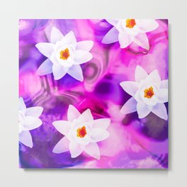 abstract atmospheric floral design Metal Print