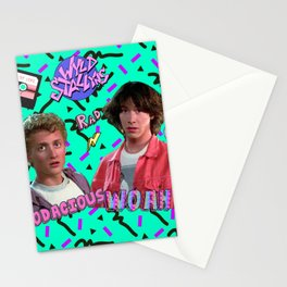 Bill and Ted Collage Stationery Cards