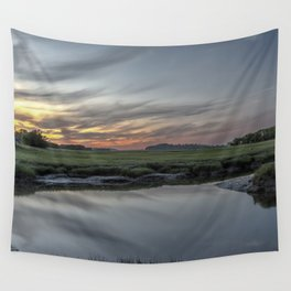 Ocean River Sunset in Essex Wall Tapestry