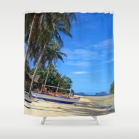 philippines Shower Curtains featuring Tides Out by Michael S.