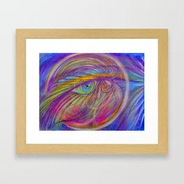 Guardian Angel with Feather Framed Art Print