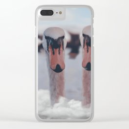 S W A N S Clear iPhone Case