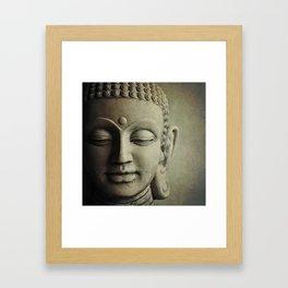 Buddha Head. Framed Art Print