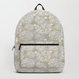Zinnia Garden Yellow and Gray Backpack