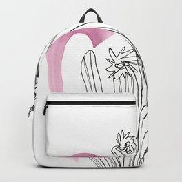 Contour Line Cactus 3 Backpack