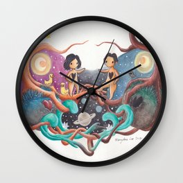 Boy and Girl In A Love World of Their Own Wall Clock