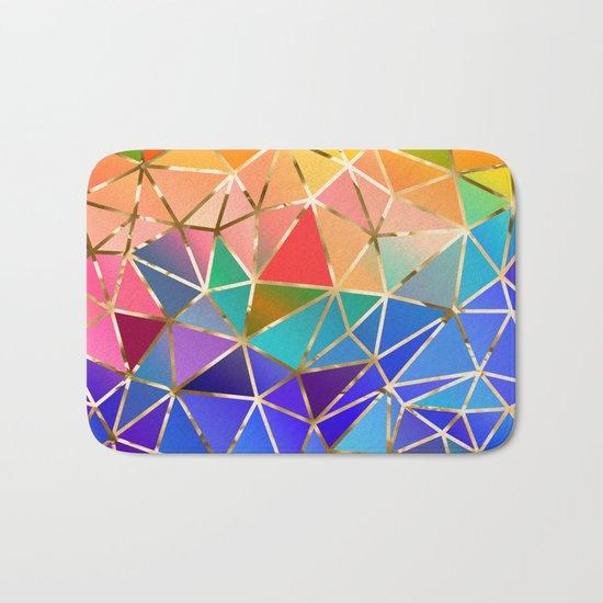 Rainbow geometric #9 Bath Mat