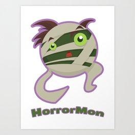 HorrorMon Mummy Art Print