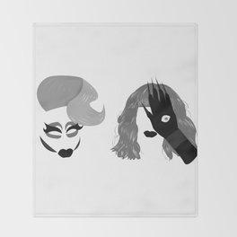 Trixie and Katya Throw Blanket