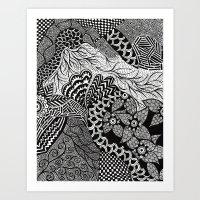 henna Art Prints featuring Henna by JessicaR