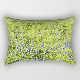 Texas Bluebonnet Field Rectangular Pillow