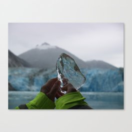 Heart of the Glacier Canvas Print