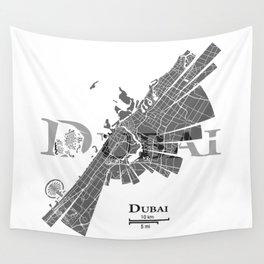 Dubai Map Wall Tapestry