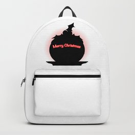 Christmas Pudding SIlhouette Backpack