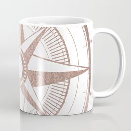 Rose Gold Compass Coffee Mug