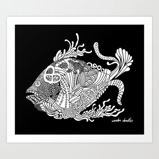 Dragon Fish Art Print
