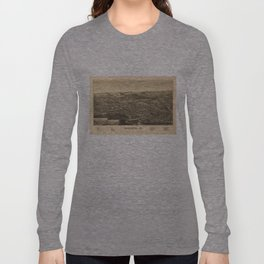 Vintage Pictorial Map of Bennington Vermont (1887) Long Sleeve T-shirt
