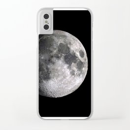The Full Moon Super Detailed Print Clear iPhone Case