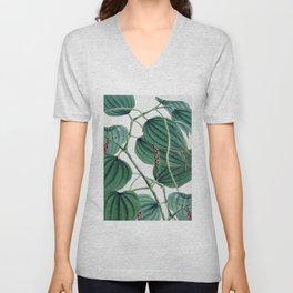 Green leaves I Unisex V-Neck