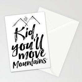 Kid You'll Move Mountains, Printable Art, Inspirational Print, Nursery Stationery Cards