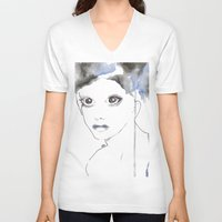 depression V-neck T-shirts featuring Depression I by katimarco