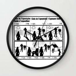 Exposure Guide Wall Clock