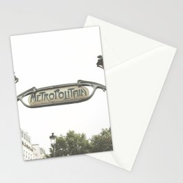 Paris Photography Metropolitain Sign Metro City France Europe Stationery Cards