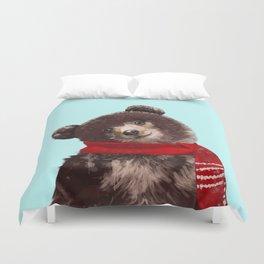 Baby bear in Christmas Mood Duvet Cover
