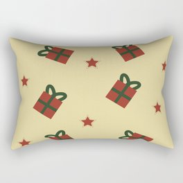 Gifts and stars pattern Rectangular Pillow