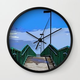 Dock to Where Wall Clock