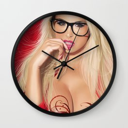 Tribal Witch Wall Clock