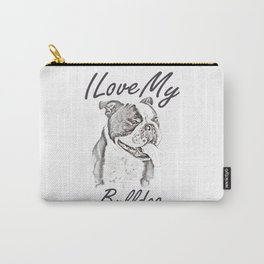 I Love My Bulldog Carry-All Pouch