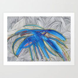 Blue Devils Art Print