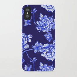 Chinoiserie Foral Navy iPhone Case