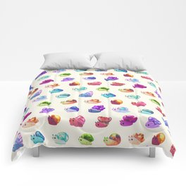 Jewel Snail - pastel Comforters