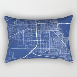 Beaumont Map, USA - Blue Rectangular Pillow