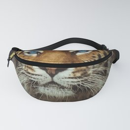 Wild Tiger with Blue eyes Fanny Pack