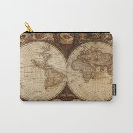 Vintage Map of the World Carry-All Pouch