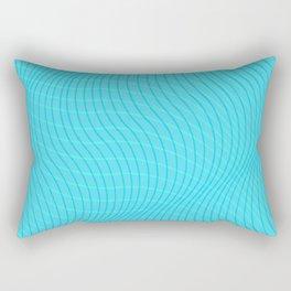 Teal Wave Rectangular Pillow