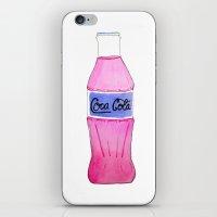 coke iPhone & iPod Skins featuring Pink Coke by Shellsea Art