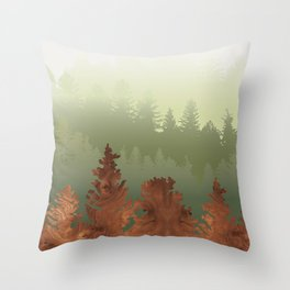 Treescape Green Throw Pillow