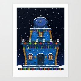 Holiday House Art Print