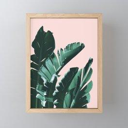 Banana Leaves Finesse #3 #tropical #decor #art #society6 Framed Mini Art Print