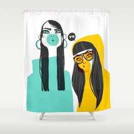 Bubble G▲ng Shower Curtain
