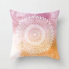 SUMMER LEAVES MANDALA Throw Pillow