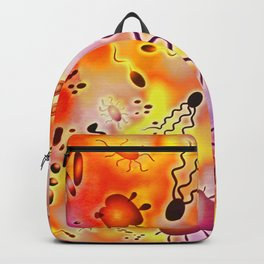 Bacteria Background Backpack