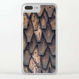 Stave Church Wall Clear iPhone Case