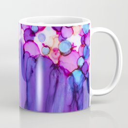 Confetti and Tulle Alcohol Ink Painting Coffee Mug