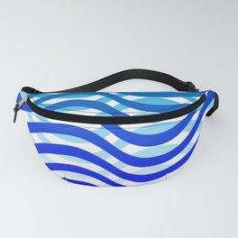 Waving Blue Pattern Fanny Pack
