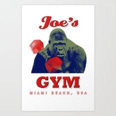 Joe's Gym Miami Beach USA t-shirt Art Print